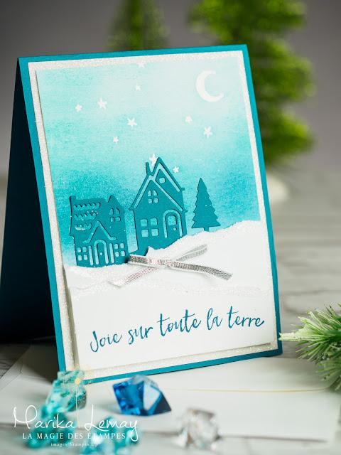 Carte de Noël Stampin' Up ! utilisant Bonjour de ma ville