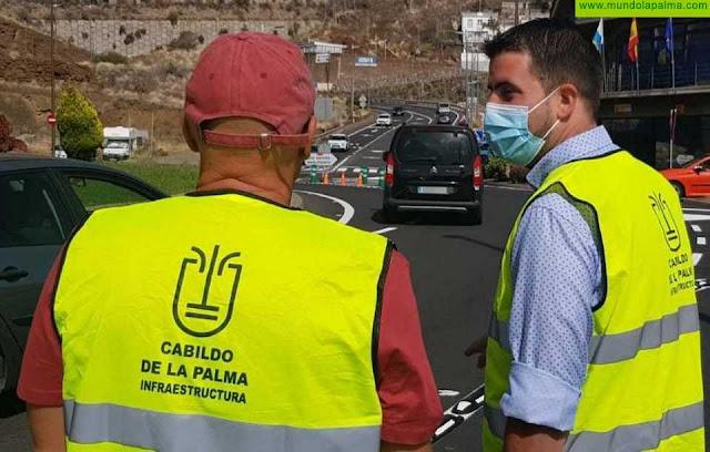 El Cabildo pone en marcha la turborotonda en la entrada sur a Santa Cruz de La Palma