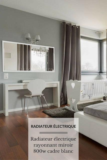 Radiateur panneau rayonnant laqué