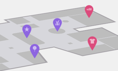 Interactive 3D Mall Map With pin Indicators Using jQuery - Top