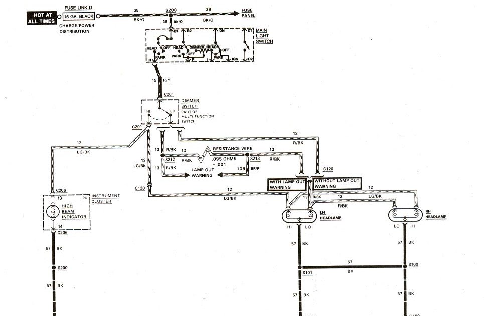 Free Auto Wiring Diagram: 19831989 Ford Ranger Headlight Wiring Diagram