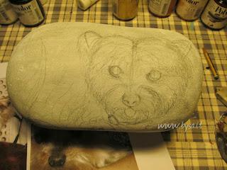 Dipingere  sassi cani