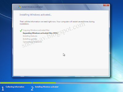 proses install windows 7 lengkap