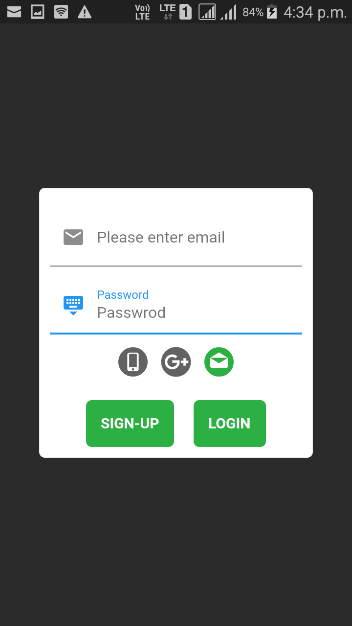 Flutter – Login and registration authentication with