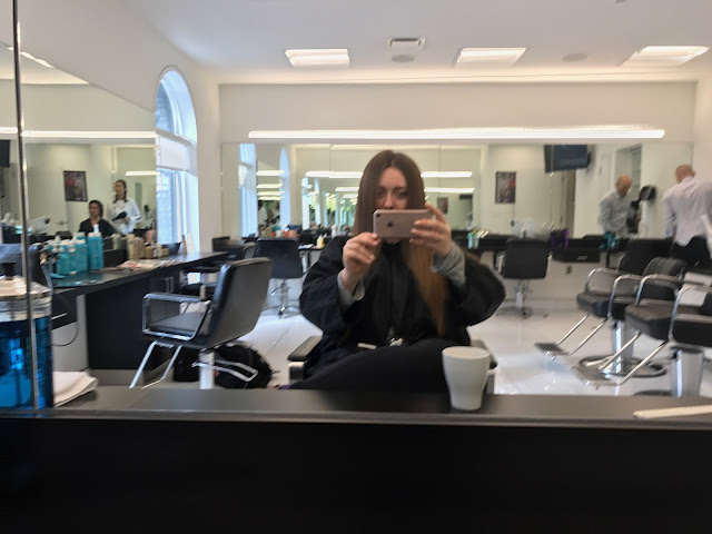 long hair cut experience sassoon toronto