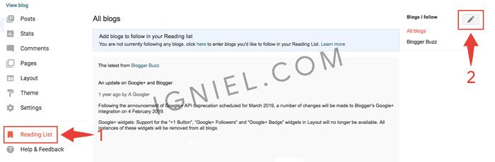 Cara Follow Blog Orang Lain Tanpa Widget