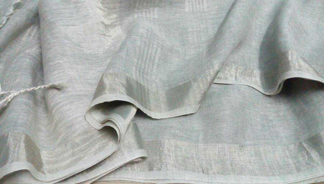 Pastel linen Sarees | Buy Online Lenin Sarees ...