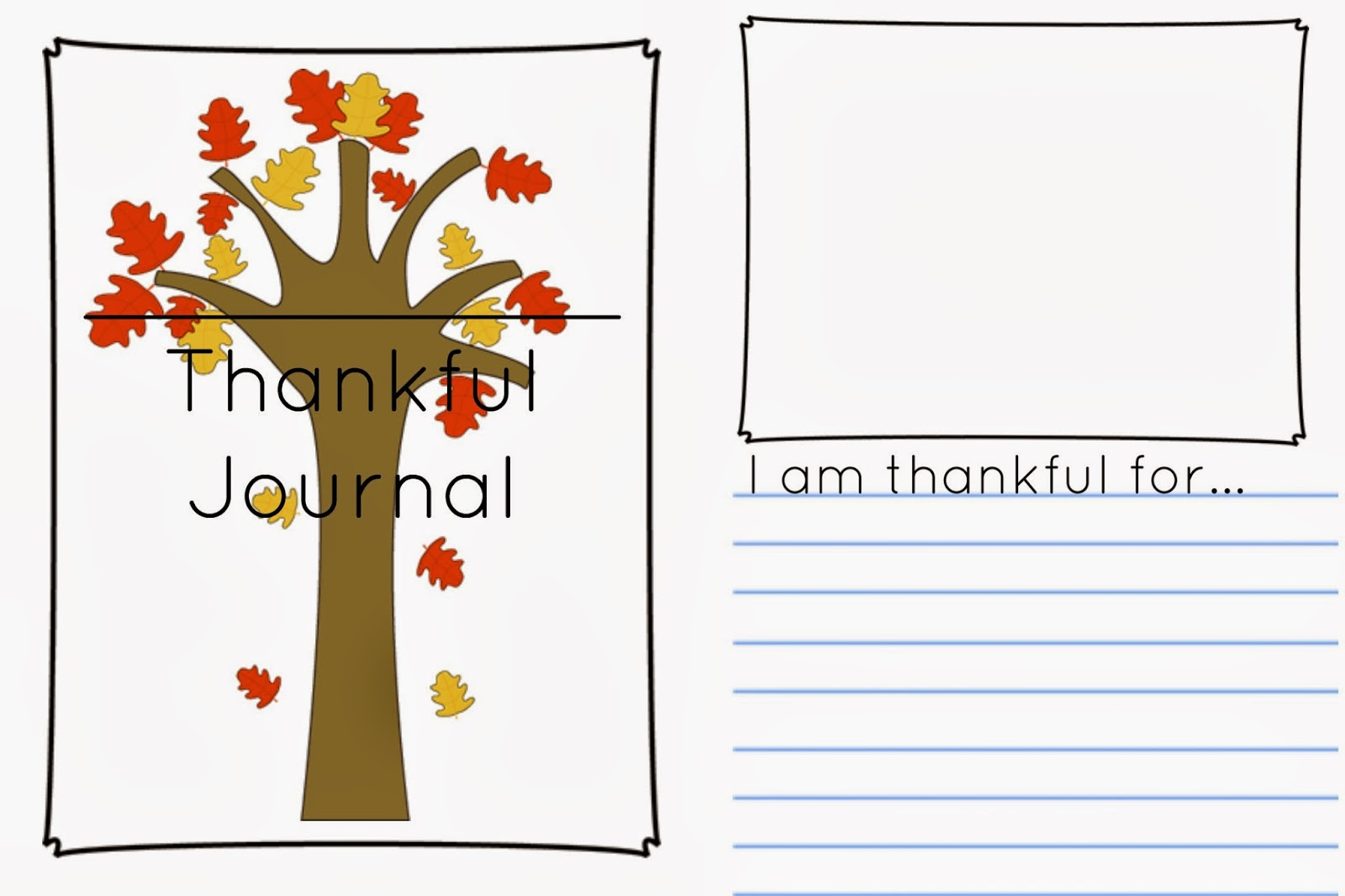 free printable thankful journal
