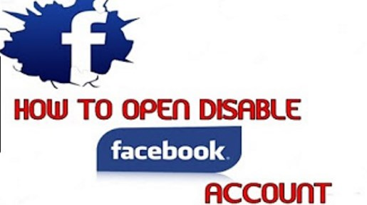 How to open my disabled facebook account