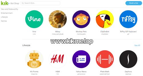 Los 5 ChatsBots favoritos de los usuarios de Kik