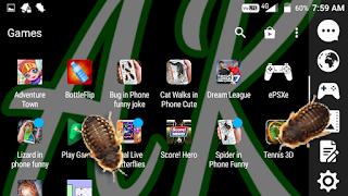 Bagaimana agar serangga muncul pada layar android | andik kepang