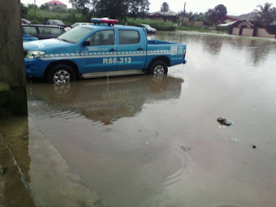 Flood Takes Over FRSC Command In Akwa Ibom After Heavy Rainfall. Photos…