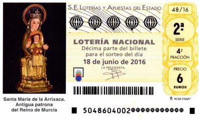 decimos loteria sabado 18 junio