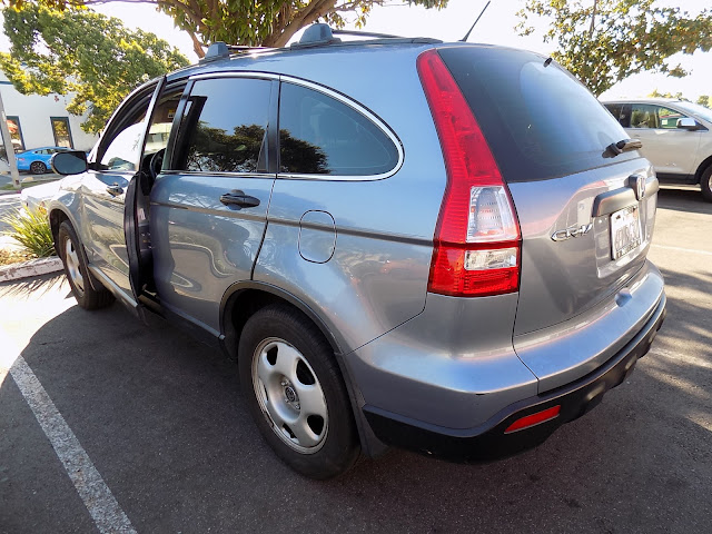 Honda CR-V before collision repairs at Almost Everything Auto Body.