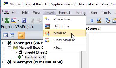 cara insert module vba