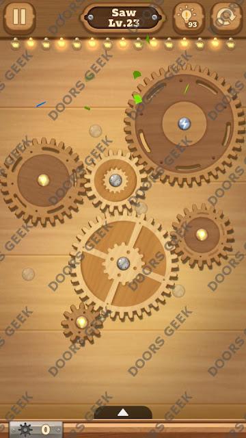 Fix it: Gear Puzzle [Saw] Level 23 Solution, Cheats, Walkthrough for Android, iPhone, iPad and iPod