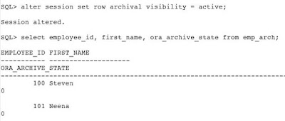 Using In-Database Row Archiving