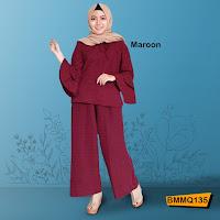 jual online gamis set warna maroon