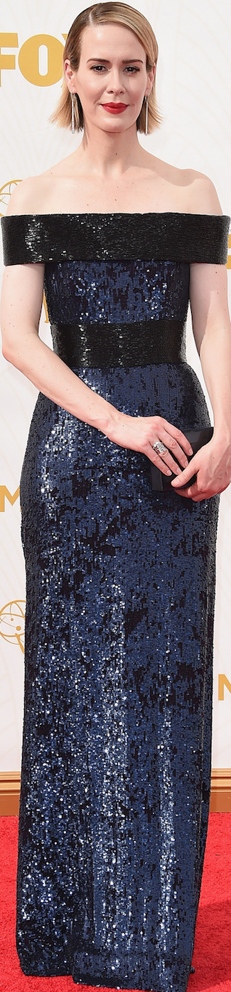 Sarah Paulson in Prabal Gurung 2015 Emmy Awards
