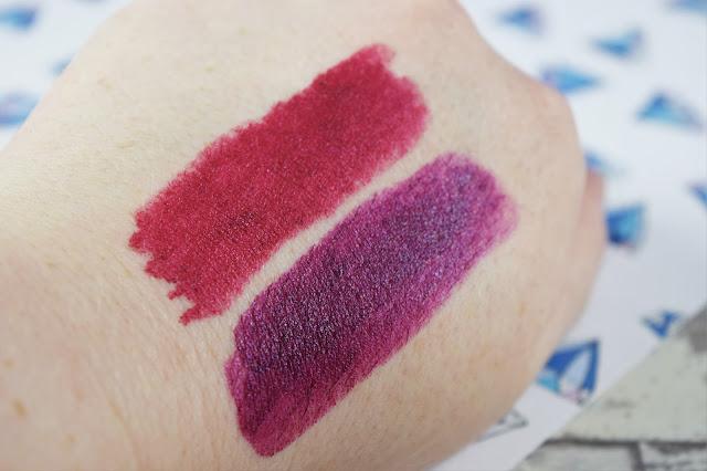 Sleek MakeUP Lip VIP Lipstick in Scandalous and Superstar Swatches