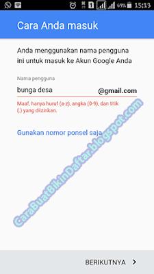 Contoh Membuat Nama Pengguna Email