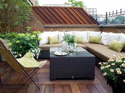 decoración pequeña terraza