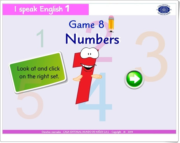 "I speak English 1: ""Numbers"" (Inglés de Educación Infantil)"
