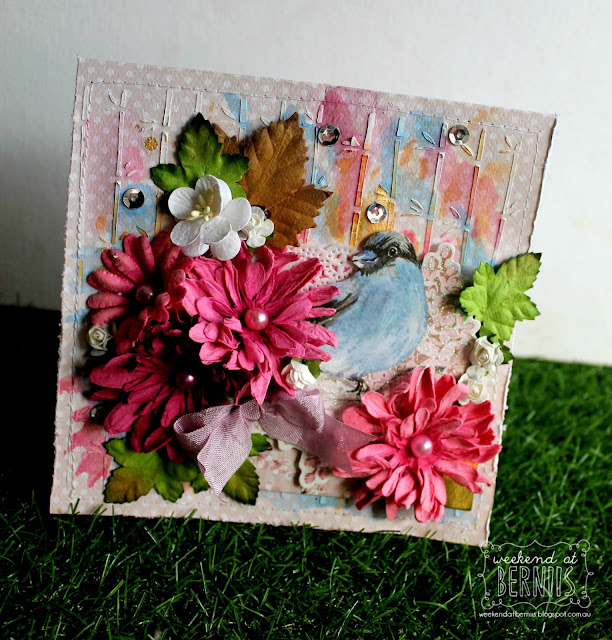Just Because card by Bernii Miller for BOBunny using the Secret Garden collection.