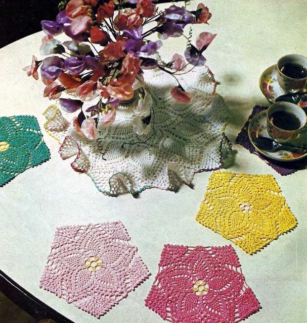 Patrón 1023 Tapetes Salvamanteles a Crochet