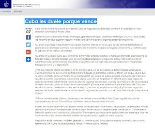 Blog Cuba, Isla Mía rezhazo a imputacion de atentado vs Uribe
