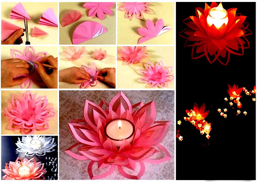 How to Make Paper Lotus Candlestick