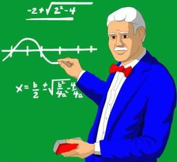Dibujo de un maestro de matemáticas