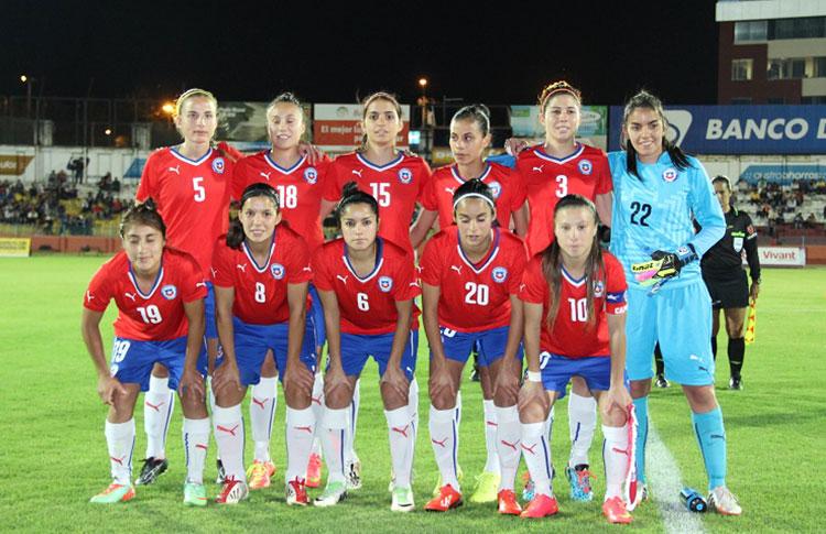 Formación de selección de Chile ante Brasil, Copa América Femenina 2014, 18 de septiembre