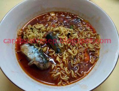 Foto Resep Ikan Sarden Kaleng Saus Cabai Campur Mie Menu Makanan Anak Kos Sederhana Spesial Asli Enak