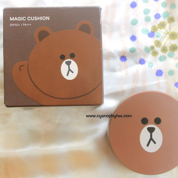 Review Missha X Line Frineds Magic Cushion Brown SPF50+/PA++
