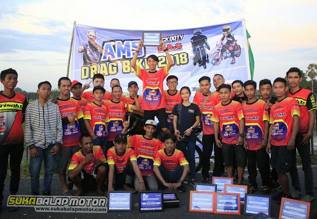 AMS DRAG BIKE TAKALAR 2018 : TRISAKTI MOTOR Raih 18 Piala, Juara Umum dan Torehkan Best Time