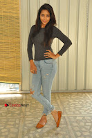 Actress Bhanu Tripathri Pos in Ripped Jeans at Iddari Madhya 18 Movie Pressmeet  0014.JPG