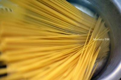 resipi mudah Spaghetti Aglio Olio