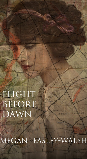Cover of Flight Before Dawn, Debut Novel of Megan Easley-Walsh: award-winning writer, Historical Fiction about the French Resistance in Normandy, France in WWII