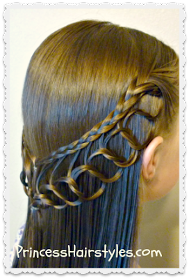 Princess Hairstyles Feather Chain Braid