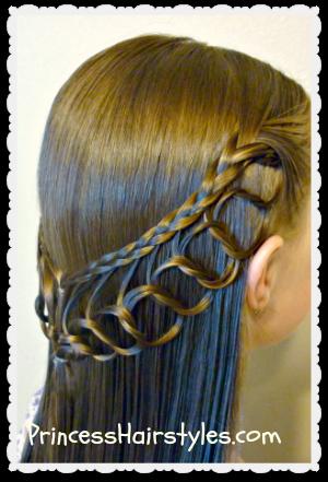 feather chain braid hairstyles