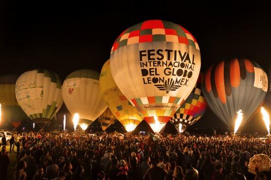 El festival Internacional del globo en león