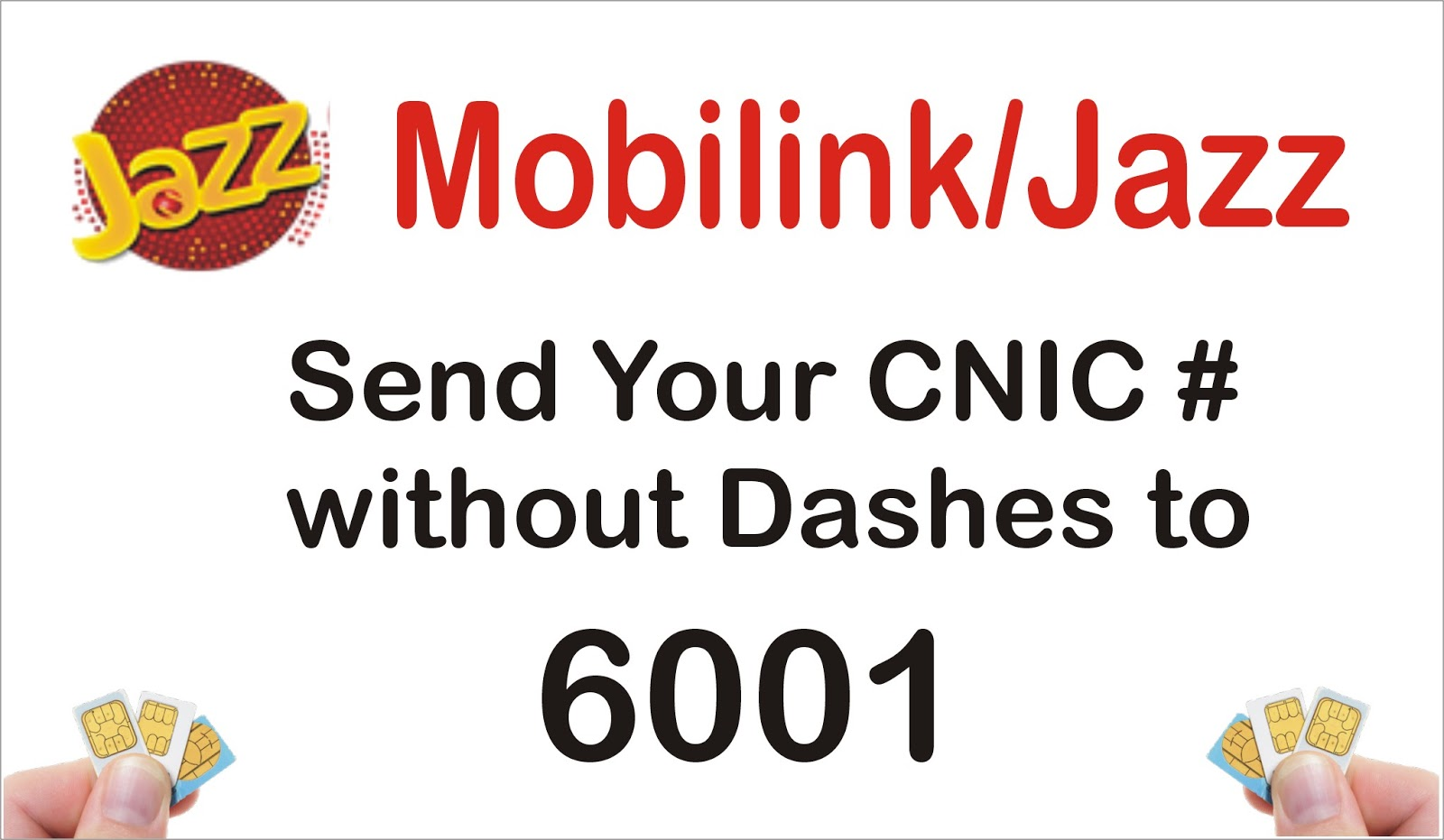 Check Sim Numbers Through CNIC Number in Pakistan