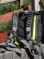 backpack on rocks