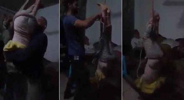 (Video) Kanak-Kanak Digantung Terbalik Pada Kipas Kerana Mencuri