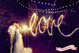 Wedding Sparklers Love Writing