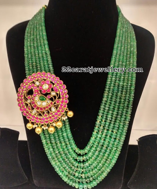 Multiple Strings Emerald Beads Set