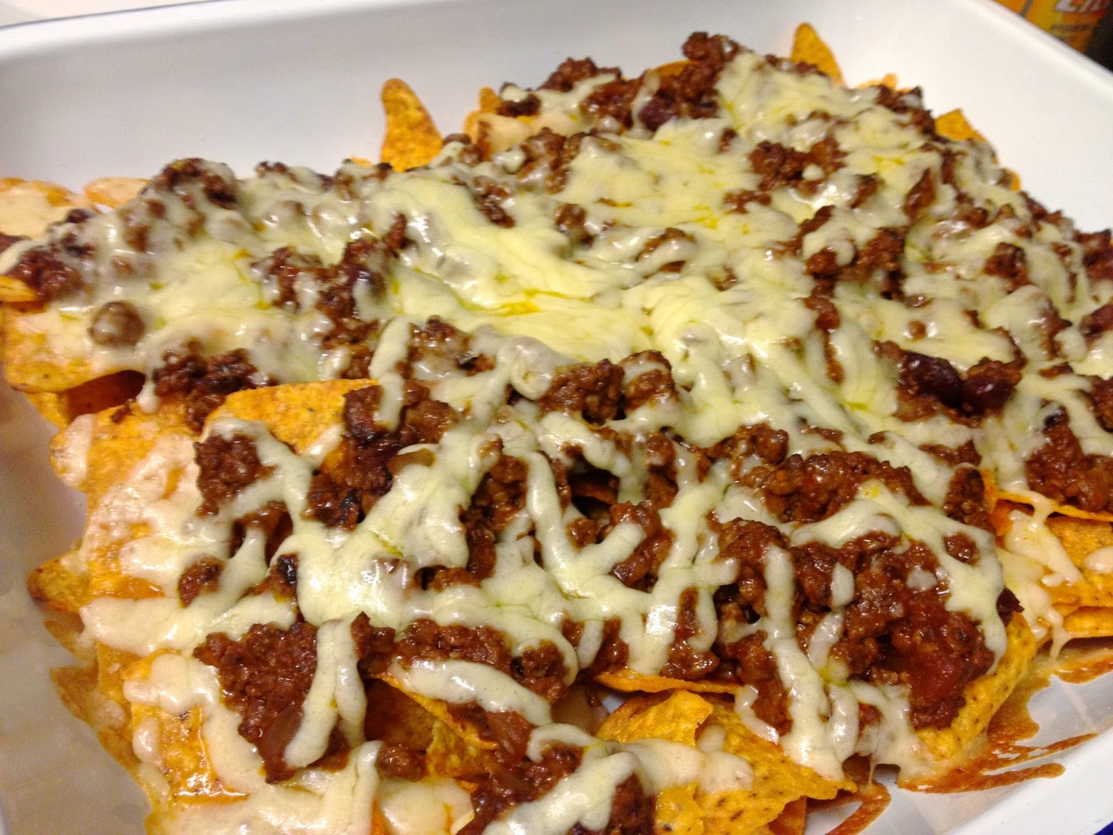vegetarian mince cheese nachos