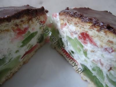 """Ciasto bez pieczenia """"Kolorowa pianka"""""""