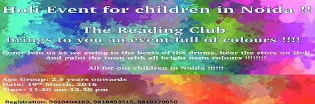 Noida Diary: Holi Celebrations for Kids in Noida